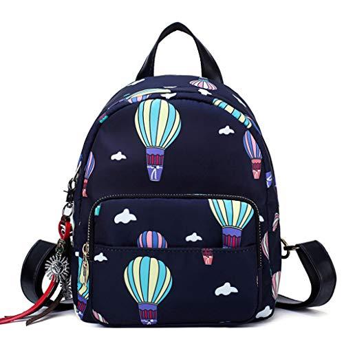 2019 Mode Rucksack Damen, Ballon Weiblich Tasche Outdoor Freizeit Tasche Nylon Student Rucksack Backpack, Mini Rucksack Mädchen Teenager (2019 Weiblichen Halloween-kostüme)