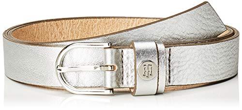 Tommy Hilfiger Damen Gürtel Classic Belt 2.5, Silber (Silver 055), 85