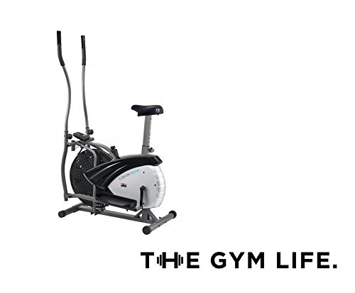 The Gym Life Built to Last Dual Action 2 in 1 Air Elliptical Cross Trainer & Exercise Bike For Home Workout. Adjustable Air Resistance, Built in Computer, Dual Action Handlebars