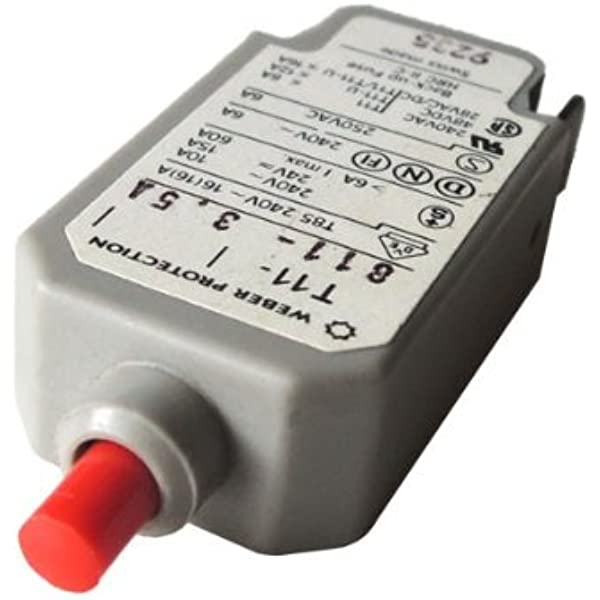 Überstrom Schutzschalter Weber T11 811 3 5a 240v Elektronik