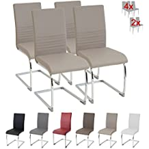 Albatros silla cantilever BURANO Set de 4 sillas Beige, SGS probado