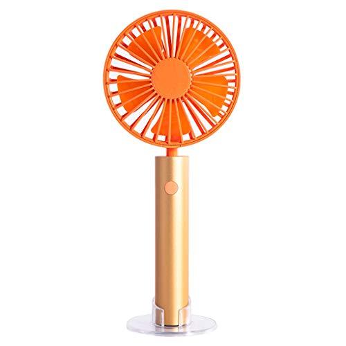 YWLINK Mode Mini Ventilateur de Poche, Main Ventilateur de USB Rechargeable Portable Silencieux, Ventilateur à Piles pour la Maison, Le Bureau, Le Camping et Les Voyages(Gold)
