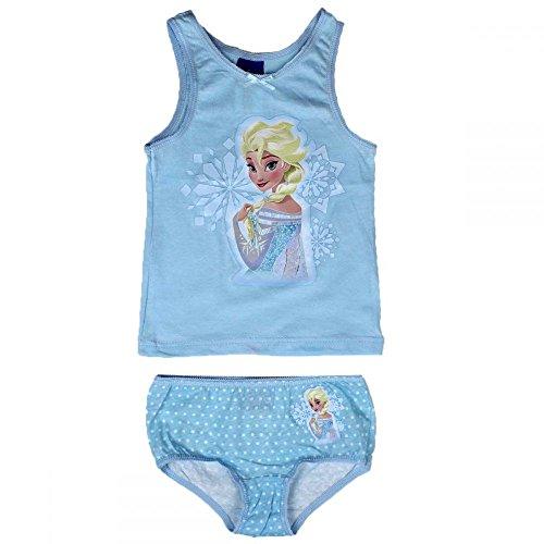 N Frozen Die Eiskönigin ELSA 2tlg. Set Mädchen Unterwäsche Hemd Slip blau (92/98)
