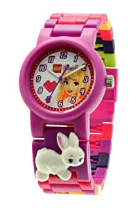 Lego Friends Stephanie Girl's Quartz Watch with White Dial Analogue Display and Purple Plastic or PU Strap 9005190