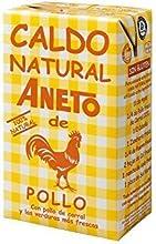 Caja de 6 unidades de litro Caldo Aneto de Pollo