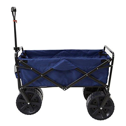 mac-sports-heavy-duty-collapsible-folding-all-terrain-utility-wagon-beach-cart-blue-by-mac-sports