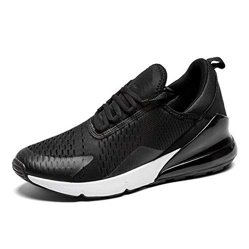 SOLLOMENSI Damen Herren Laufschuhe Retwin Turnschuhe Straßenlaufschuhe Sportschuhe mit Snake Optik Sneaker 45 EU G Schwarz Weiß -