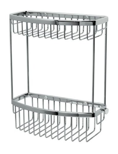 Miller Bathrooms Classic Baskets D Shaped Basket Two Tier Chrome