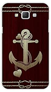 Crazy Beta ANCHOR WOODEN DESIGN Printed Back Cover for Samsung Galaxy Grand 3