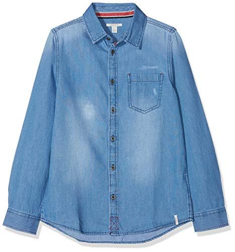 ESPRIT KIDS Jungen Hemd RM1201608 Blau (Medium Wash Denim 463) 128 (Herstellergröße: XS)
