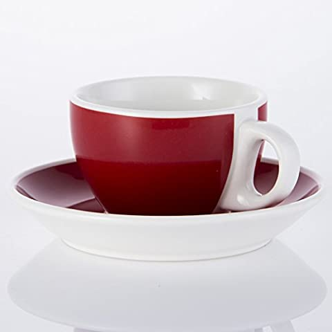 cappuccino crème tasse ceramic tasse,red de 250 ml.