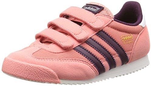 Adidas Dragon Cf C Scarpe per bambini, Unisex - bambino, Multicolore (Peach Pink F15-St/Merlot F15-St /Ftwr White), Taglia 34