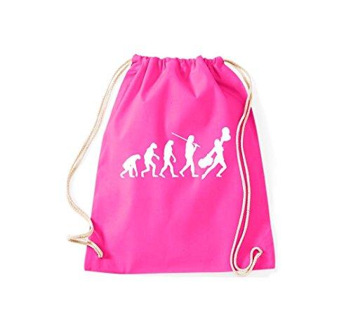 Turnbeutel Evolution Cheerleader Cheerleading Kostüm Fun Sport Tanz Gymsack Kultsack pink