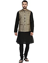 kisah Brocade cotton SilkSelf DesignWaistCoat for For Men's