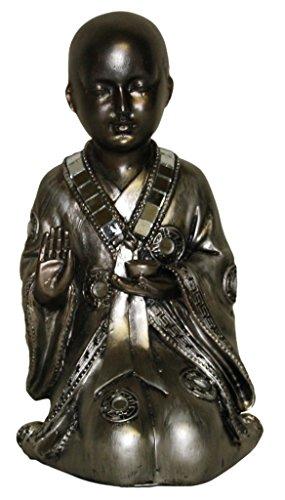 Stone-Lite Figura - Monje shaolín arrodillado - Acabado al detalle -