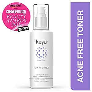 Kaya Clinic Acne Free Purifying Toner, Alcohol free Toner for acne prone & oily skin, 100 ml