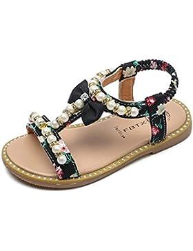 Sandalias Niña Verano K-Youth® Sandalias con Punta Abierta Para Niñas Zapatos Niña Perla Rhinestone Sandalias...