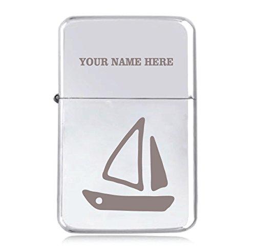 Segelboot Design–personalisierbar Star winddicht Benzin Feuerzeug (Laser Segelboot)