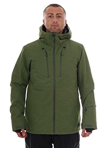 Brunotti Skijacke Snowboardjacke Winterjacke grün Thyone Kapuze 10k (L)