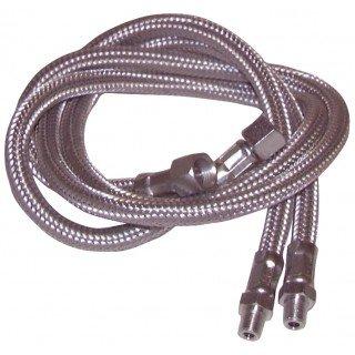 Expert by net - Flexible fioul - M1/2 x F1/2 droit (2 pièces) lg 600