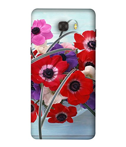 PrintVisa Designer Back Case Cover for Samsung Galaxy C9 Pro (Floral Plant Bloom Red Fresh Pink Colorful Green)