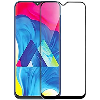 Remembrand 9H+ High Definition Edge to Edge Tempered Glass for Samsung Galaxy M10 (Pack of 1, Black, Full Glue)