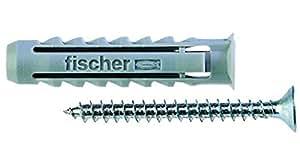 Fischer 2986506 Tasselli SX-S con Vite, 100 Pezzi, 6S
