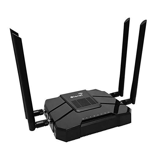 HM2 WLAN-Router, Computer-Router, 3G / 4G-Modem mit SIM-Kartensteckplatz, Dual-Band-Router, 5-GHz-WLAN-Repeater mit 4 externen Antennen - Schwarz