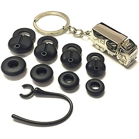BSI Jawbone Icon Earbud Fit Kit + Free Silver Metal Truck Keychain with BSI(TM) LOGO