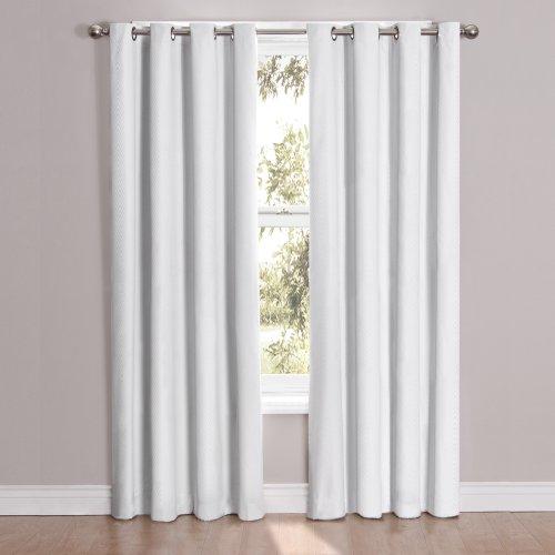 Ellery Eclipse Cassidy Blackout Tülle Fenster Vorhang Panel weiß