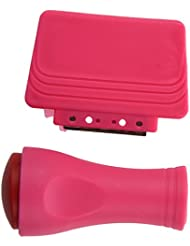 TOOGOO(R) Tampon Stamping Vernis Ongle Image Plaque Nail Art Decor Stamper Raclette Outil Rose Rouge
