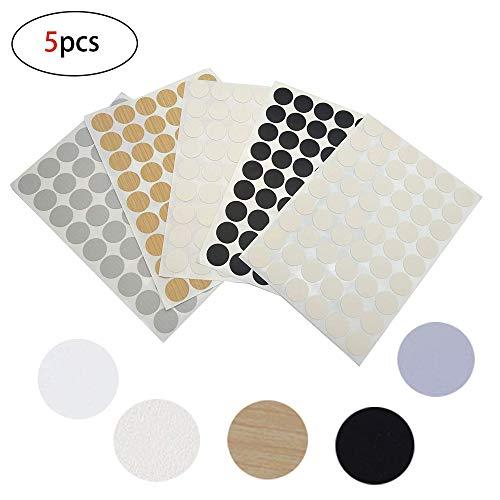 agujeros de 5 mm como se describe 1000 piezas de tapones de pl/ástico para muebles armarios color blanco armarios bisagras