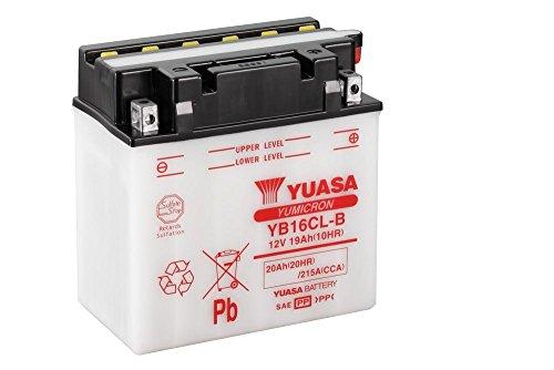 Batteria Moto YUASA yb16cl di B, 12V/19ah (dimensioni: 176X 101X 175)