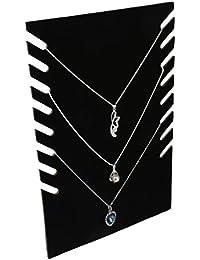Présentoirs à Bijoux Support Rangement Porte Collier de Vitrine Noir
