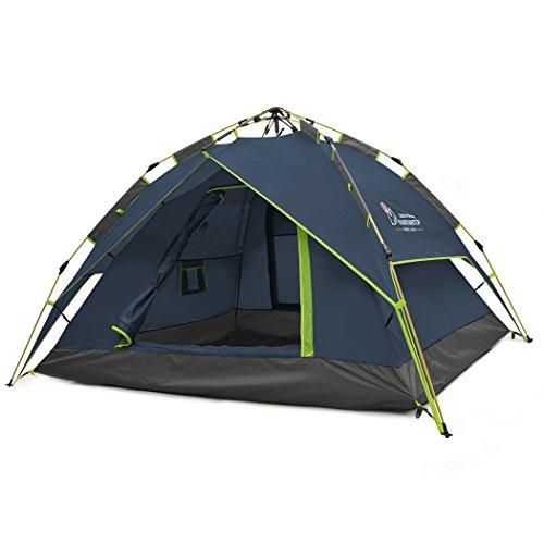 Mountaintop Trekkingzelt Zelt Minipack,Automatische Tunnelzelt Familienzelt Campingzelt für 2-3 Personen