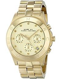 Marc Jacobs - Reloj con cronógrafo, cuarzo, acero inoxidable, MBM3101