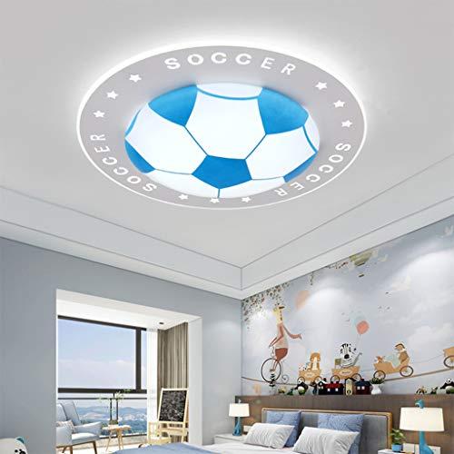 (ZQH LED Kreativ Fußball Kinderzimmer Deckenleuchte, Haushalt Junge Mädchen Schlafzimmer Lampe Kindergarten Dekoration Beleuchtung Fixture,Blue,33W40*10CM)