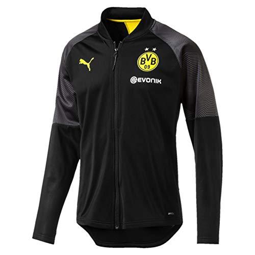 PUMA Herren BVB Stadium Poly Jacket with Sponsor Logo Trainingsjacke, Black, M