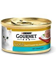 Gourmet Gold Katzenfutter Raffiniertes Ragout Thunfisch, 12er Pack (12 x 85 g) Dosen