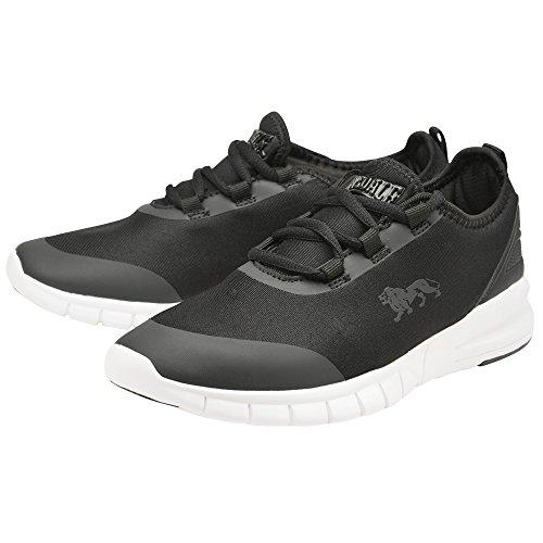 Zapatos negros con cordones Lonsdale para mujer tjJHvat