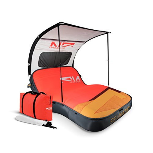 Seanatic Inflatable Cabana Lounge Luftmatratze Badeinsel Sonnenliege (hot coral)