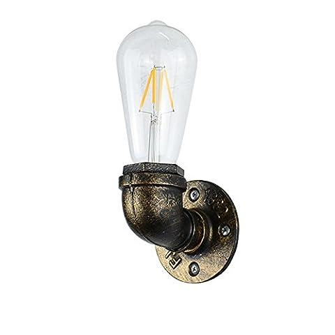 Industrial Retro Steam Punk Rust Water Pipe Lampe murale Wall Sconce Valve Antique Wallmount Loft Lampe avec E27 Lumières Applique pour Salon Chambre Restaurant Bar Décor ( Color : Style 2
