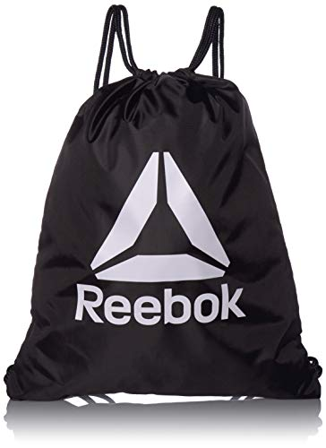 Reebok Unisex String Backpack, Black, One Size -