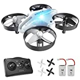 Mini Drone con Telecomando AT-66 Giocattoli per Bambini e Principianti Regalo modalità Headless 3 velocità 3D Flip Protezioni a 360°(Bianco)