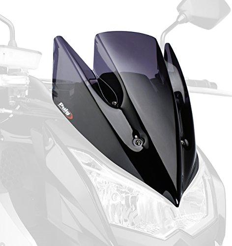 Puig 5254F Windschutzscheibe New Generation Kawasaki Z1000 10-13 Transparent / Dunkelgrau Rauch