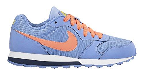 Nike - Md Runner 2 Gs, Sneaker Bambina Bleu (Chalk Blue/Bright Mango-Obsdn)