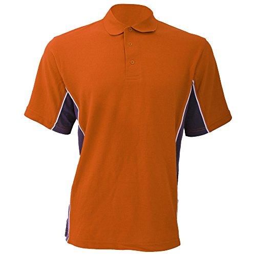 Gamegear Cooltex Active Herren Polo-Shirt, Kurzarm Orange/Anthrazit/Weiß