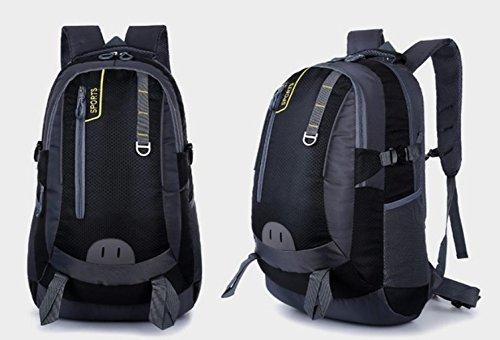 LQABW Outdoor-Nylon Oxford Tuch Wasserdichtes Haltbares Reduzierte Atmungsaktiv Wandern Bergsteigen Rucksack Tasche Black