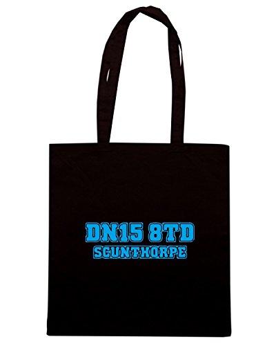T-Shirtshock - Borsa Shopping WC1187 scunthorpe-postcode-tshirt design Nero