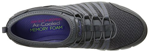 Skechers Damen GratisShake-It-Off Sneakers Charcoal/Purple